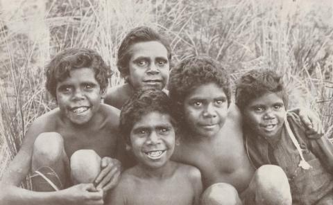 Aboriginal boys at Lake Tyers, 1934