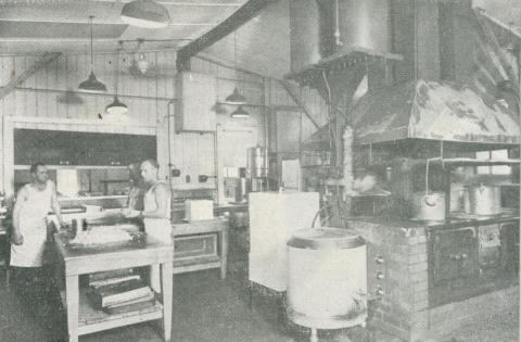 On site kitchen facilities, Upper Yarra Dam, 1954