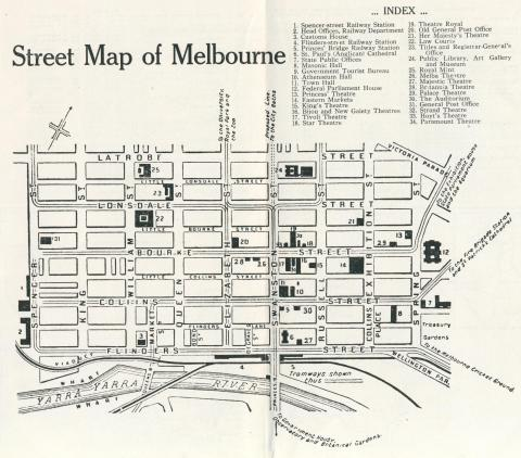 Street Map of Melbourne, 1924