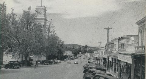 Barker Street, Castlemaine, 1959