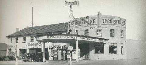 Beaurepaire Tyres, Geelong Branch, 1947