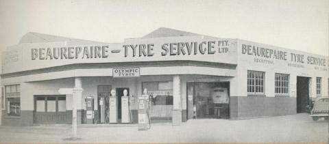 Beaurepaire Tyres, Hamilton Branch, 1947