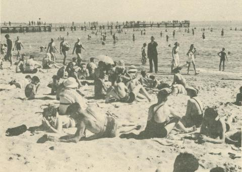 Beach Scene, St Kilda, c1937