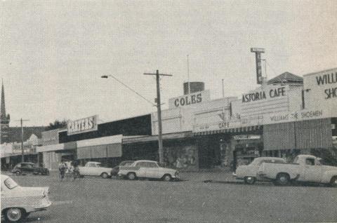 Shopping facilities, Echuca, 1961