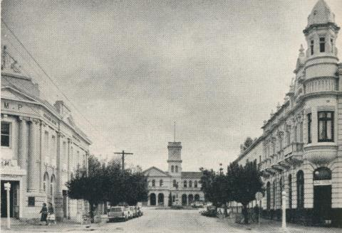 Nolan Street and the Post Office, Maryborough, 1961