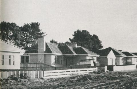 Homes in an unsewered area, Melbourne, 1957