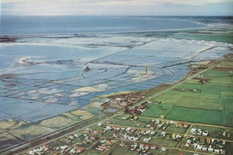 Salt pans near Geelong, 1958