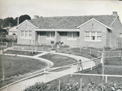 A housing duplex, Newtown Estate, 1942