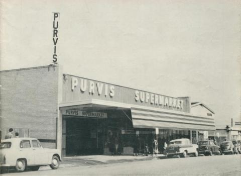 The modern Purvis Supermarket at Morwell, 1961