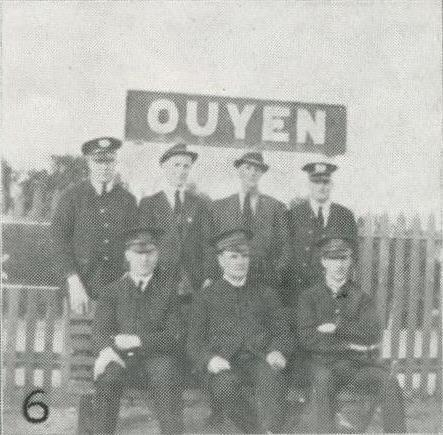 Ouyen station staff, 1927