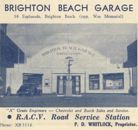 Brighton Beach Garage, 1949