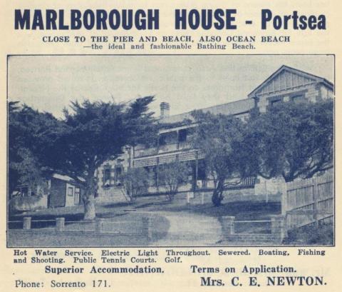 Marlborough House, Portsea, 1949