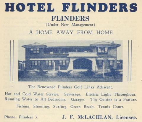 Hotel Flinders, Flinders, 1949