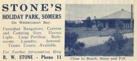 Stone's Holiday Park, Somers, 1949