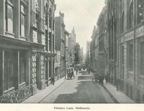Flinders Lane, Melbourne, 1900