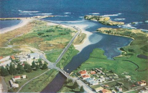 Merri River mouth, Warrnambool, c1960