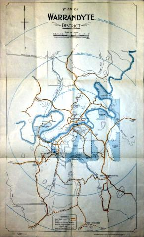 Map of Warrandyte, 1937