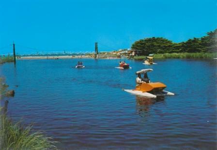 Paddle boats and footbridge, Lorne