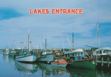 Fishing boats at Lakes Entrance