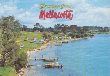 Foreshore Camp Park from Captain Stevenson's Point, Mallacoota
