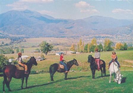 Horseriding and Pondage Lake, Mount Beauty