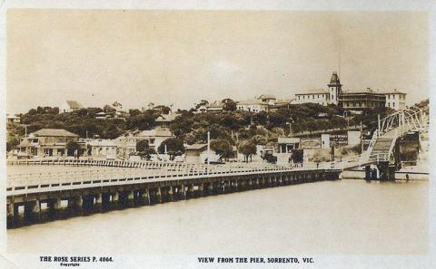 View from the pier, Sorrento, c1920