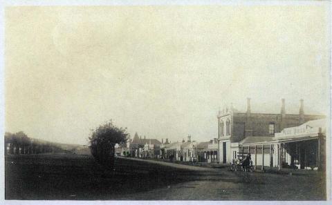 Main street stores, Terang, c1910