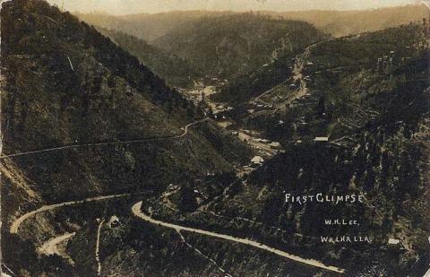 First glimpse, Walhalla, c1908