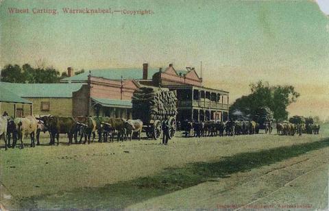 Wheat carting, Warracknabeal, c1906
