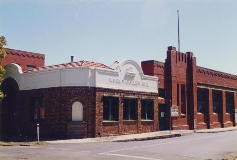 R.S.&.S Woollen Mill, Geelong, 1997