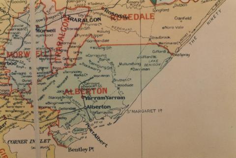 Alberton shire map, 1924