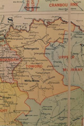 Towong shire map, 1924