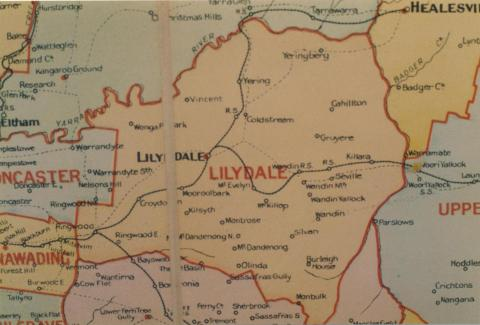 Lillydale shire map, 1924