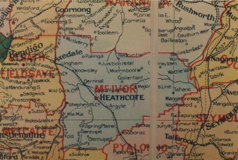 McIvor shire map, 1924