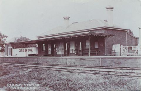 Railway Station, Carisbrook, 1908