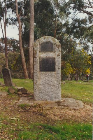 Memorial, Vaughan Springs Cemetery, 2000