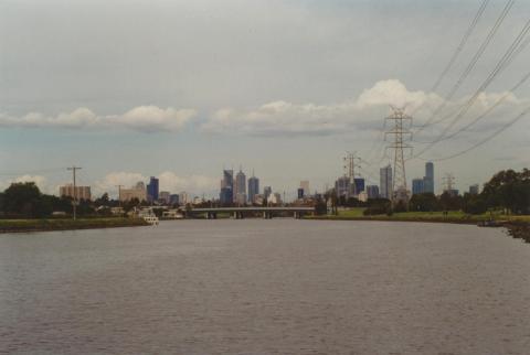 City from Maribyrnong River near Flemington Race Course, 2000