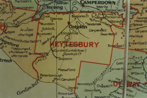 Heytesbury shire map, 1924