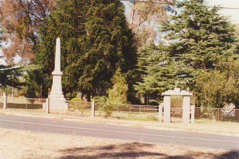 Harcourt monument, 2001