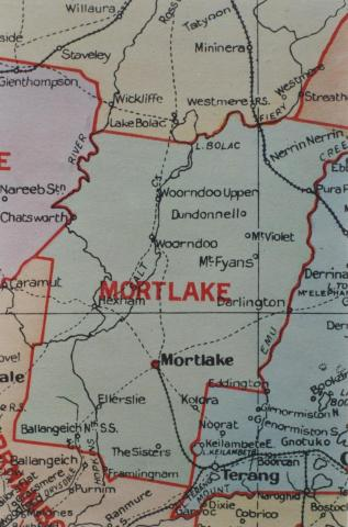 Mortlake shire map, 1924