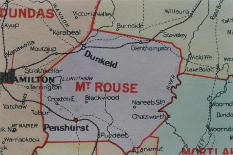 Mount Rouse shire map, 1924