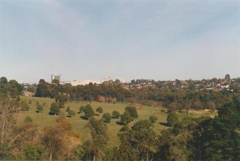 View to Westfield, across Doncaster Municipal Gardens, 2002