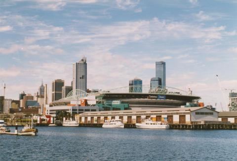 Docklands Stadium from New Quay, Victoria Dock, 2004