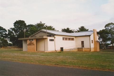 Corindhap hall, 2004