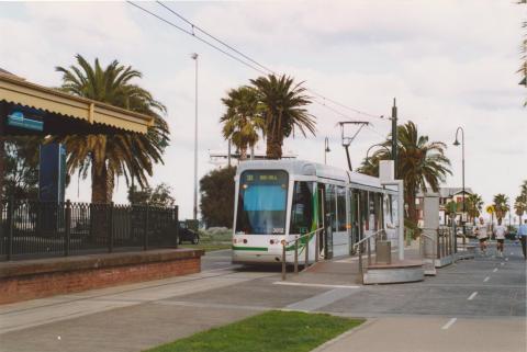 Tram at Port Melbourne station, 2004