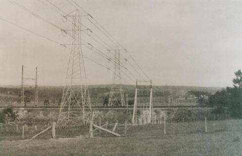 Transmission line Yallourn - Melbourne - Ringwood, 1923