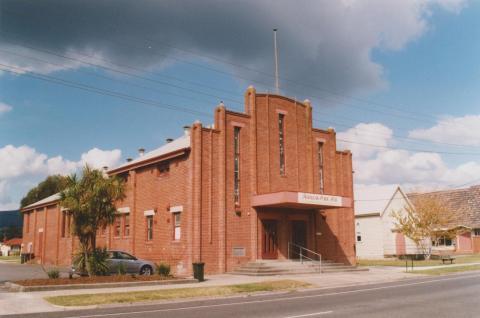 Trafalgar hall and Uniting Church hall, 2010