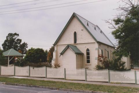 St Marys Church of England (1866) rear of primary school, Morwell, 2010