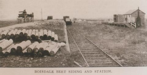 Boisdale beet siding and station, 1912