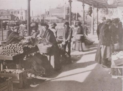 Queen Victoria market, West Melbourne, 1912
